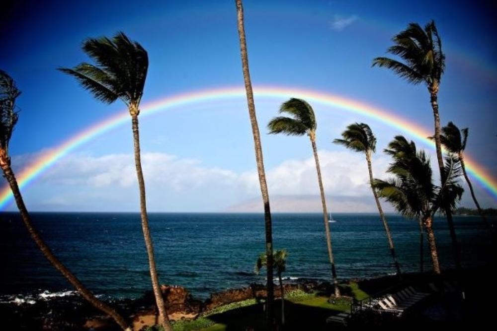 55 beach rainbow